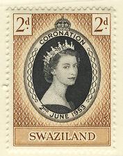 SWAZILAND 1953 CORONATION BLOCK OF 4 MNH