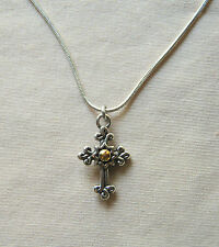 New BRIGHTON silver Sanctum Cross GLORY charm custom necklace FREE SHIPPING !!