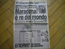 GAZZETTA SPORT 30/6/1986 MONDIALE ARGENTINA CAMPIONE