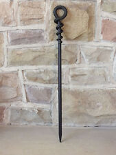Hand Forged Wrought Iron Fire Loop Poker 40 cm - Open Fire Contemporary Style