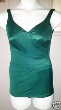 Vtg 60's Rockabilly Pin Up Emerald Green Boy Shorts Cone Bra Swim Bathing Suit