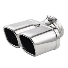 Chrome Stainless Steel Car Rear Exhaust Pipe Tail Dual Muffler Tip
