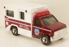 "Matchbox 1990s Ford Econoline E-Series E350 Ambulance ""County EMS"" 1:80 Scale"