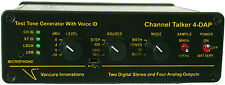 CHANNEL TALKER 4-DAP 48K ANALOG & AES DIGITAL Test Tone Generator with voice USA