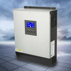 3KVA 2400W 24V Pure Sine Wave Hybrid Solar Inverter 50A PWM Solar Charger USA