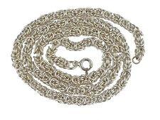 Art Deco 835 Silber Königskette Form Runddraht Damen Collier 43,5 cm 27 gr