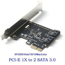 PCIe PCI Express to SATA3.0 2-Port SATA III Expansion Controller Adapter Card 6G