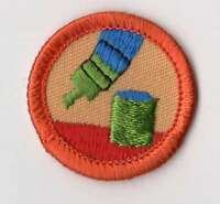 Vintage junior girl scouts energy saver badge patch with orange junior girl scouts do it yourself badge patch with orange border solutioingenieria Choice Image