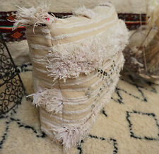 Moroccan Vintage Decorative Wedding Blanket Handira Berber Floor Pillow Cushion