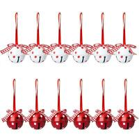 Christmas 50mm Jingle Bells Charms  Metal Bell Bar Party Xmas Tree Pendant