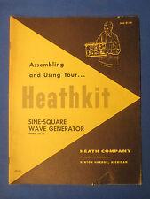 HEATHKIT AG-10 ASSEMBLY MANUAL ORIGINAL FACTORY ISSUE