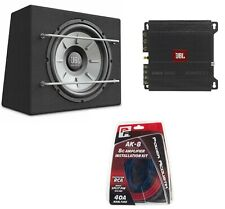 "JBL Stage 1200B 1000 W 12"" Sealed Subwoofer Sub Box + A6002 Amplifier + Wire Kit"