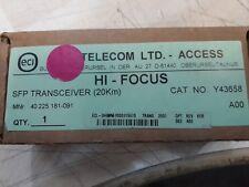 eci y43658  hi-focus  sfp transceiver  20km    as213891-p