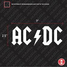 2X  ACDC ROCK MUSIC logo sticker vinyl decal