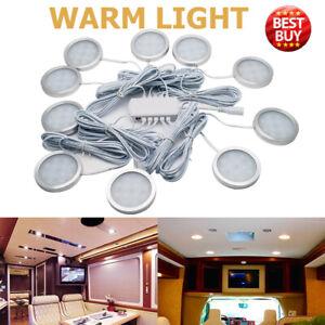 8X 12V Warm White Caravan Camper Trailer Car Boat LED Down Light Ceiling Lamp