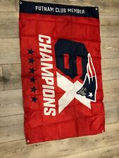 2019 - 2020 NE Patriots 6X Champions Putnam Season Ticket Holder Flag VICTORY