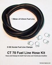 CT 70 CT70 FUEL LINE KIT Honda Motorcycle 5.5mm I.D. OE Fuel hose w/ 5 Clamps