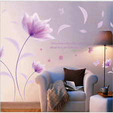 Flowers in Wind Removable Wall Stickers Decal Art Vinyl Flower Mural Home Decor