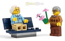 LEGO® City Figuren Oma & Opa/ Großeltern mit Blumenstrauß/Parkbank NEU 60134