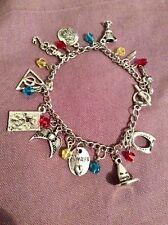 FREE GIFT BAG  Silver Harry Potter Wizard Magic Charm Bracelet Ladies Jewellery