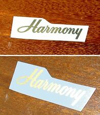 Metallic Gold Harmony Headstock Decals Decal Waterslide Acoustic Archtop Guitar