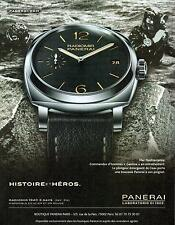 ▬► PUBLICITE ADVERTISING AD Montre watch PANERAI Radiomir 1940 3 days
