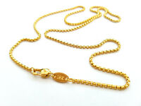 Source 24 inch 18ct Gold Belcher Cable Chain Necklace 1.5mm thick