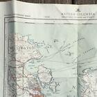 Chart Nanaimo British Columbia Canada 92 G/4 West Half First Edition Map BC 1955