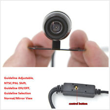170° Car Backup Camera Button Control Front/Rear NTSC/PAL Guide Line ON/OFF