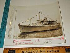 Rare Historical Original VTG Seized Portuguese Cruise Ship Santa Maria Photo