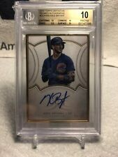 2018 Topps Definitive Collection Framed Autograph Kris Bryant #9/15 POP 1