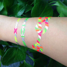 Flash Tattoos Modeschmuck Einmaltattoo temporäres Tattoo bunt Armband W-329