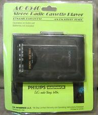 Philips Magnavox AQ 6540 Stereo Radio Cassette Player Dynamic Bass w/Headphones
