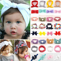Elastic Baby Headdress Kids Hair Band Girls Bow Knot Newborn Headband Head Wrap
