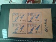 ROCKET MAIL   stamps cinderella  label poster block of 4 signed  (ROS4137