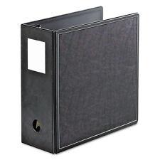 "Cardinal SuperLife Easy Open Locking Slant-D Ring Binder 5"" Cap 11 x 8 1/2 Black"