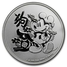 1 oz silver mickey mouse. Disney lunar year of the dog! 2018.BU..999 pure!