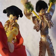 2 Vtg Spanish Bullfighters Matador & Banderillero Cloth Dolls Handmade in Spain