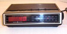 GE 7-4631 Vintage Digital AM/FM Alarm Clock Radio, Space Saver, FOR PARTS