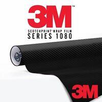 3M 1080 Series 3D Carbon Fiber Vinyl Car Wrap Film Black - 4in x 6in (Sample)