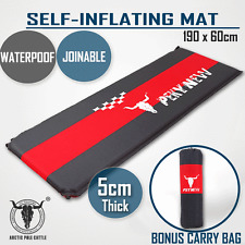 Self Inflating Mattress Sleeping Mat Air Bed Camping Camp Hiking Joinable 5cm RE