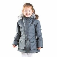 Trespass Vardia Girls Waterproof Jacket School Windproof Rain Coat with Hood