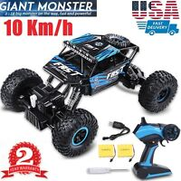 4WD RC Monster Truck Off-Road Vehicle 2.4G Remote Control Buggy Crawler Car R/B