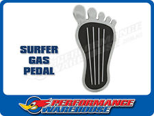 SURFER BAREFOOT GAS PEDAL PAD COVER 9 INCH CHROME STEEL CHEVY FORD MOPAR RAT ROD