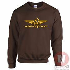 Aeroflot Aerolínea Sudadera URSS Retro COMUNISTA Iron Curtain guerra fría