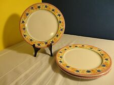 Water Colors by SANGO - Set of APRICOT JAM Dinner Plates (3) #3002