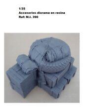 1/35 accesorios resina cajas mantas rueda M.I. 390