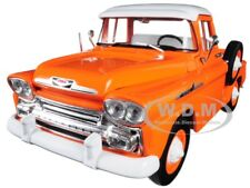 1958 CHEVROLET APACHE STEPSIDE PICKUP TRUCK ORANGE 1/24 DIECAST BY M2 40300-64 A