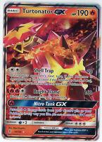 Pokemon Guardians Rising Turtonator GX Ultra Rare Holo 18/145