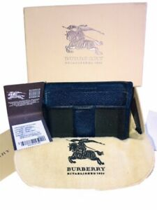 BURBERRY 7pc Card Holder Box Pouch Tag Wallet Gift Mens
